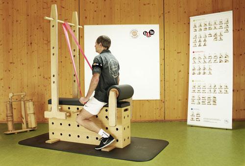Kaatsu-Training in Verbindung mit dem Stuetzpunkttrainer - Bandzug