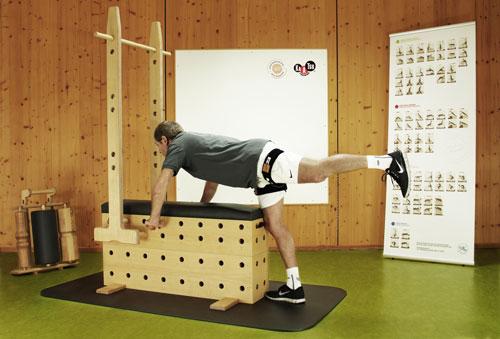 Kaatsu-Training in Verbindung mit dem Stuetzpunkttrainer - Beintraining